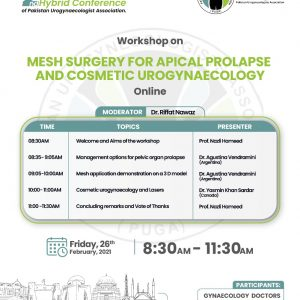 Mesh Surgery for Apical Prolapse and Cosmetic Urogynaecology